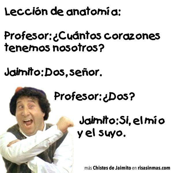 Chistes de Jaimito: Lección de anatomía   jjjjjjjjjjj   Pinterest ...
