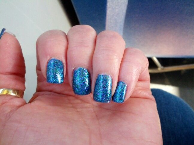 My nails in Canucks Colours