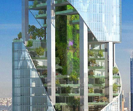Daniel libeskind 39 s soaring green garden tower for nyc for Daniel libeskind architectural style