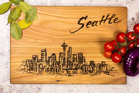 Seattle Seattle Print Seattle City Skyline Travel By Smileboards