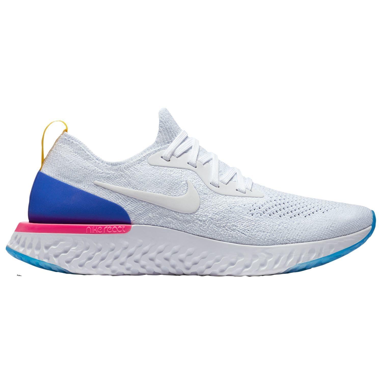 dae29efb3489e Nike Epic React Flyknit - Women s - Running - Shoes - White White Racer  Blue Pink Blast