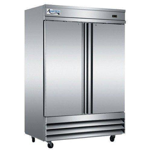 Avantco Cfd 2ff 54 Two Section Solid Door Reach In Freezer Solid Doors Commercial Refrigerators Appliance Store