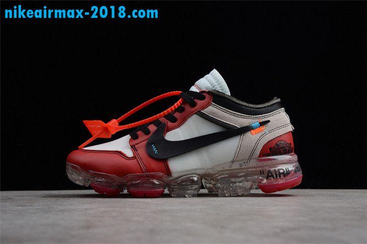 sports shoes 7a200 d23a1 Off-White x Air Jordan 1 x Nike Air VaporMax Chicago Mens Sneaker White Red Black  AA3830-003