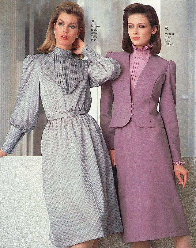 Wonderful Dress With Pleated Frills 1980s Fashion Women 1980s