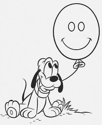 Baby Pluto Con Palloncino Disegni Da Colorare Gratis Disegni Da