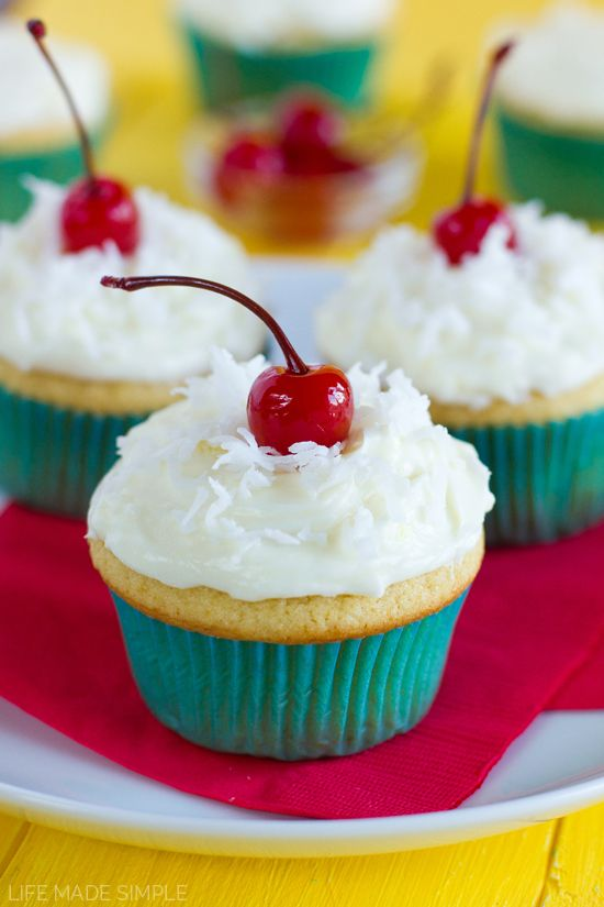 Pina Colada Cupcakes Recipe Pina Colada Cupcakes Cupcake