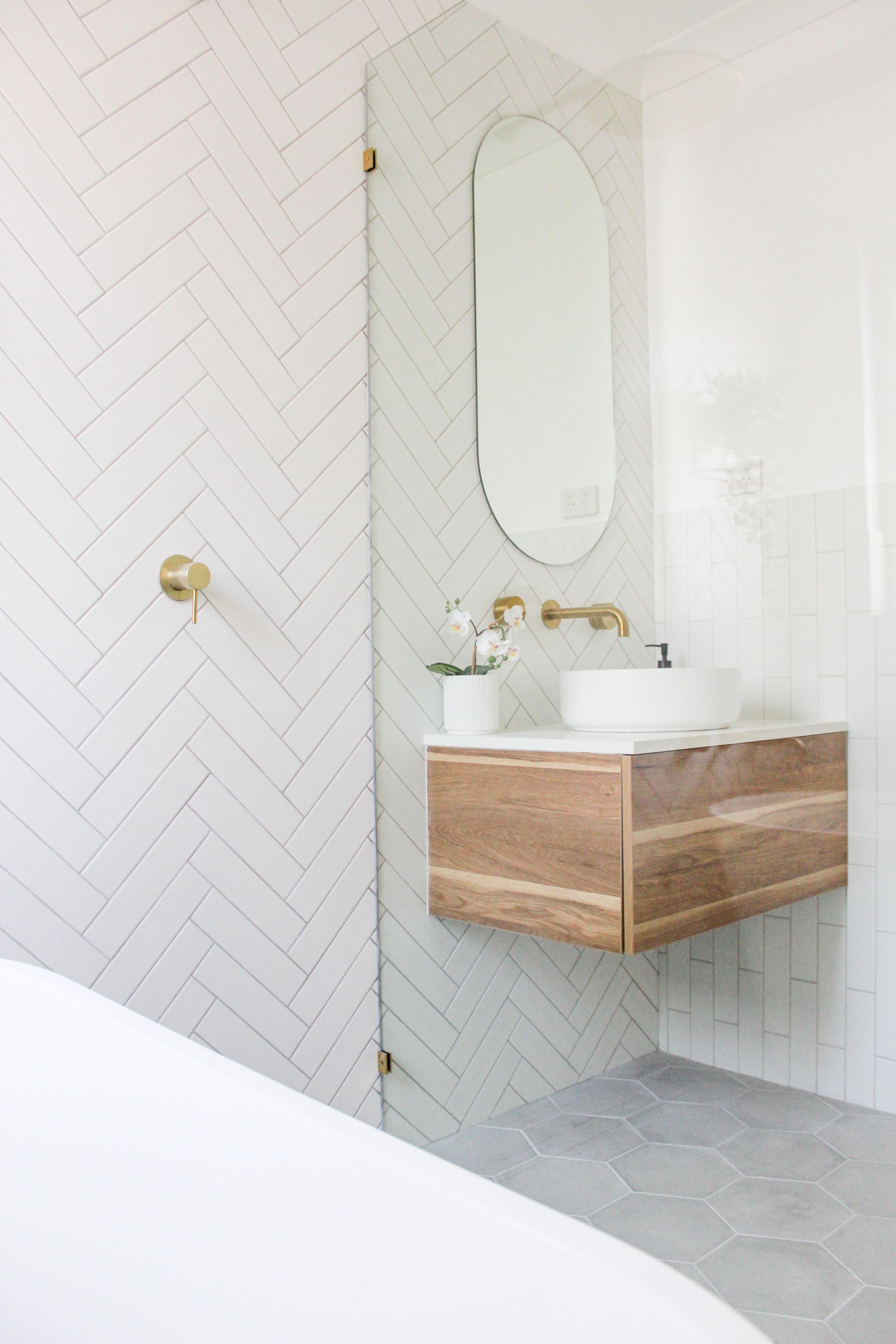 Herringbone Tiling Small Bathroom Renovations Beautiful Bathroom Renovations Bathroom Design Inspiration Newest small bathroom herringbone