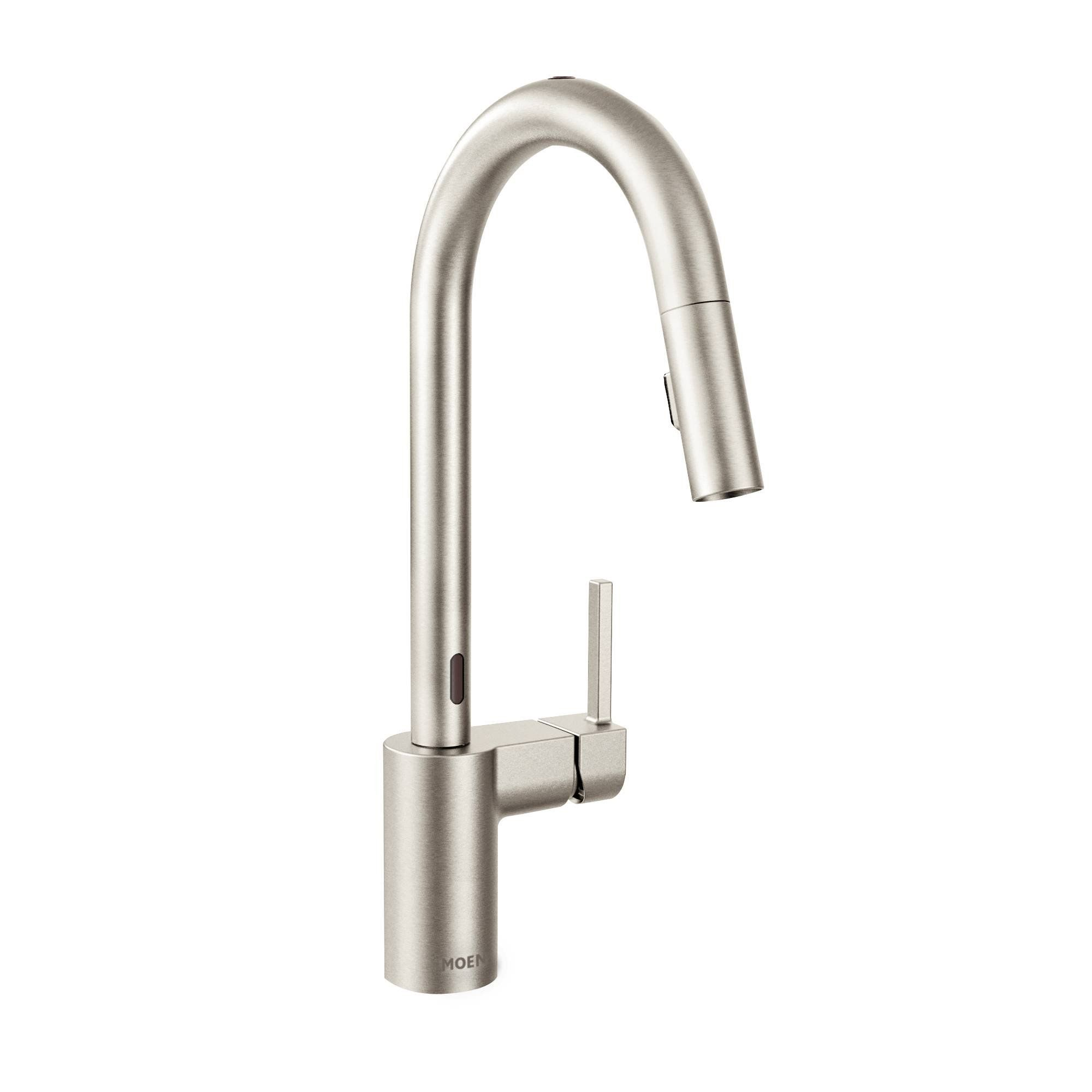 Moen 7565esrs Align With Motionsense One Handle High Arc Pulldown