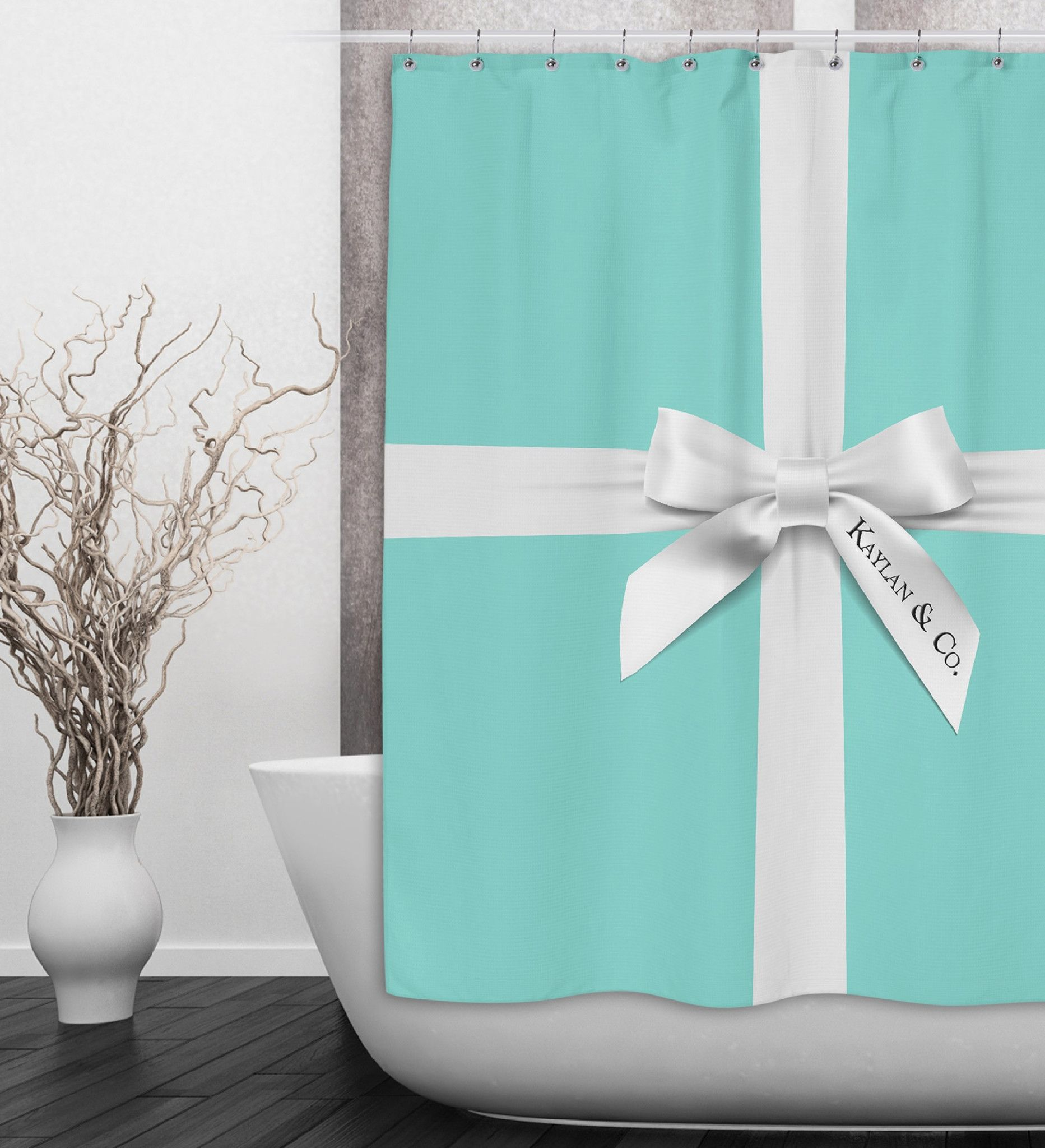 Name & Co Personalized Fashion Shower Curtain | Tiffany blue box ...