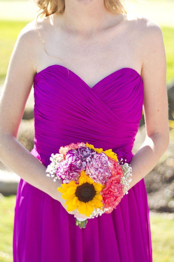 Fuchsia bridesmaid dresses | gambol photography | Pink | Pinterest ...