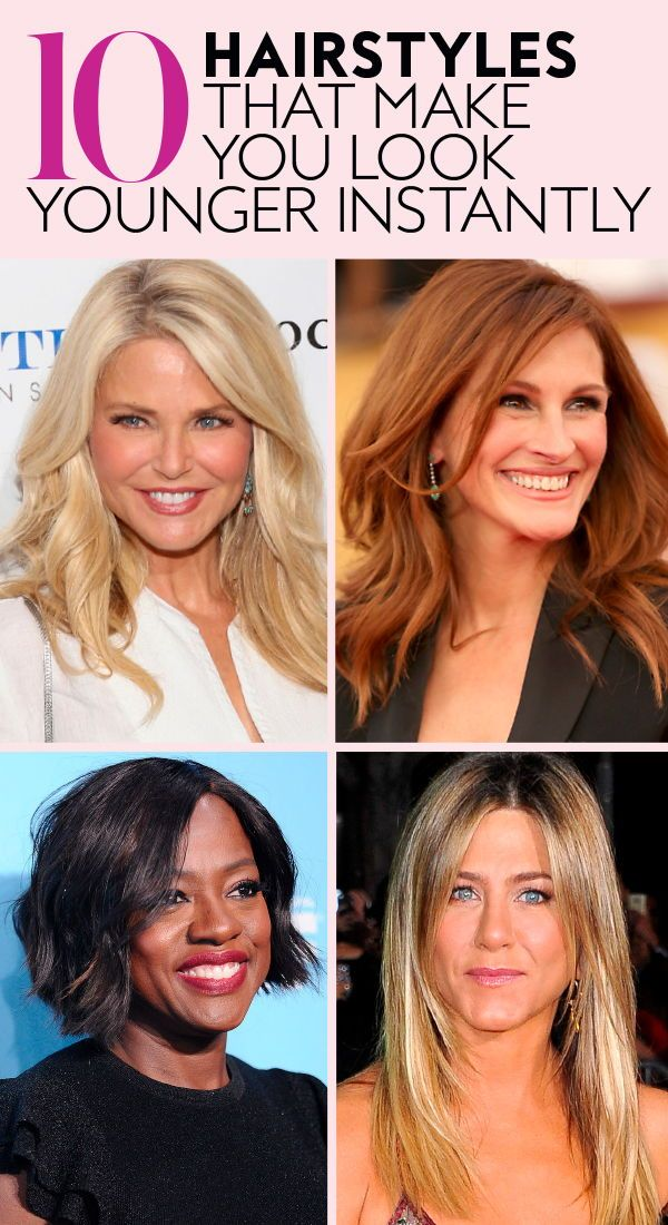 Hairstyles That Make You Look Younger Anti Aging Hair Hair Styles Younger Hair