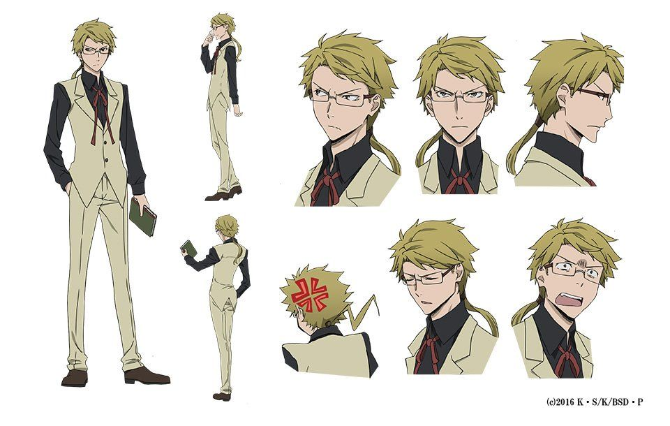 Anime Boy Character Design : Bungō stray dogs anime s character design sheets unveiled
