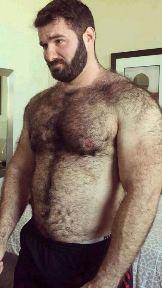 Muscle gay hairy men