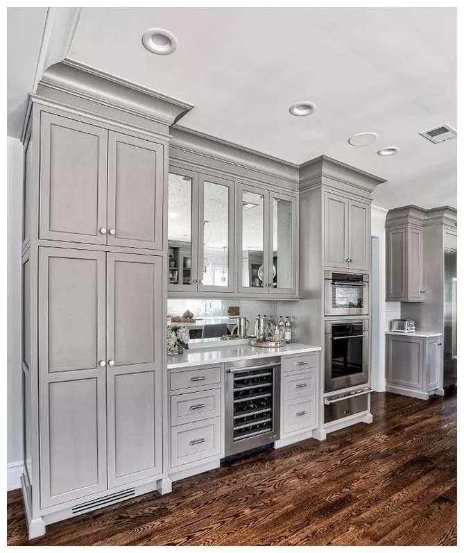 29 Kitchen Inspiration Design Ideas Kitchenideas Kitcheninspirationdesign Kitchendesignide Grey Kitchen Designs Kitchen Remodel Small Kitchen Cabinet Design