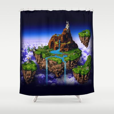 Floating Kingdom Of ZEAL   #ChronoTrigger Shower Curtain @Society6 · Chrono  TriggerVideo Game ...