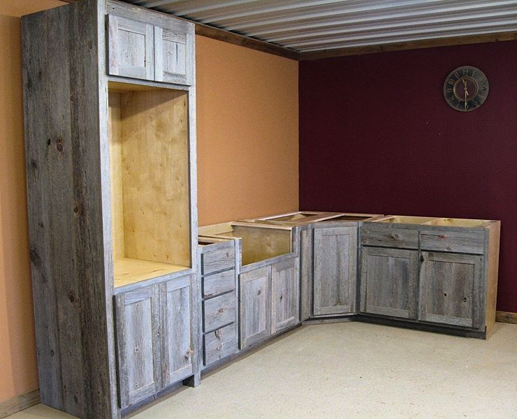 Weathered Gray Kitchen Cabinets