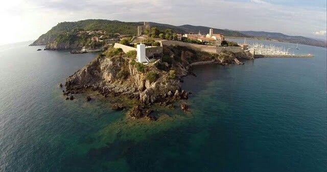 Talamone from the sky  #sea #holiday #maremma #maremmans #italy