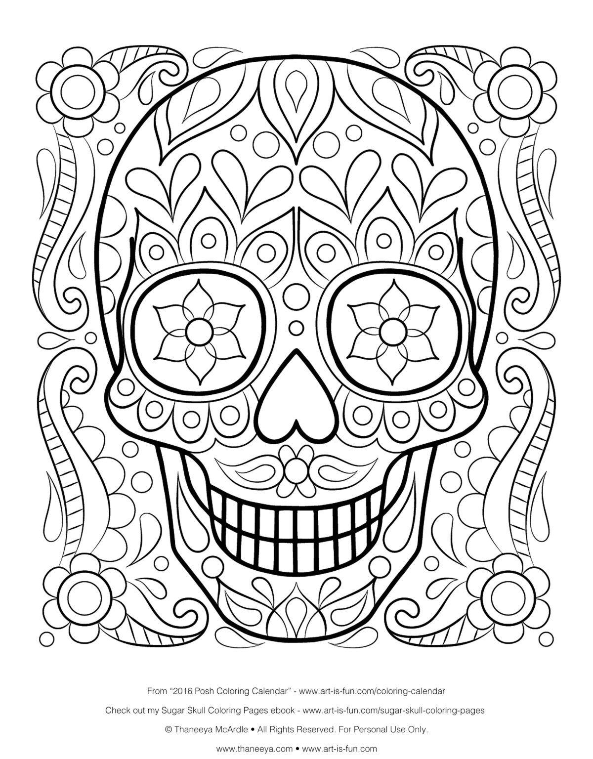 Sugar Skull Drawing Template At Paintingvalley Explore