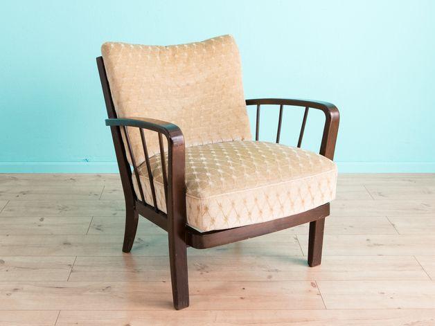 Vintage Sessel - Farbschöner 50er Jahre Sessel, Vintage, - ein ...