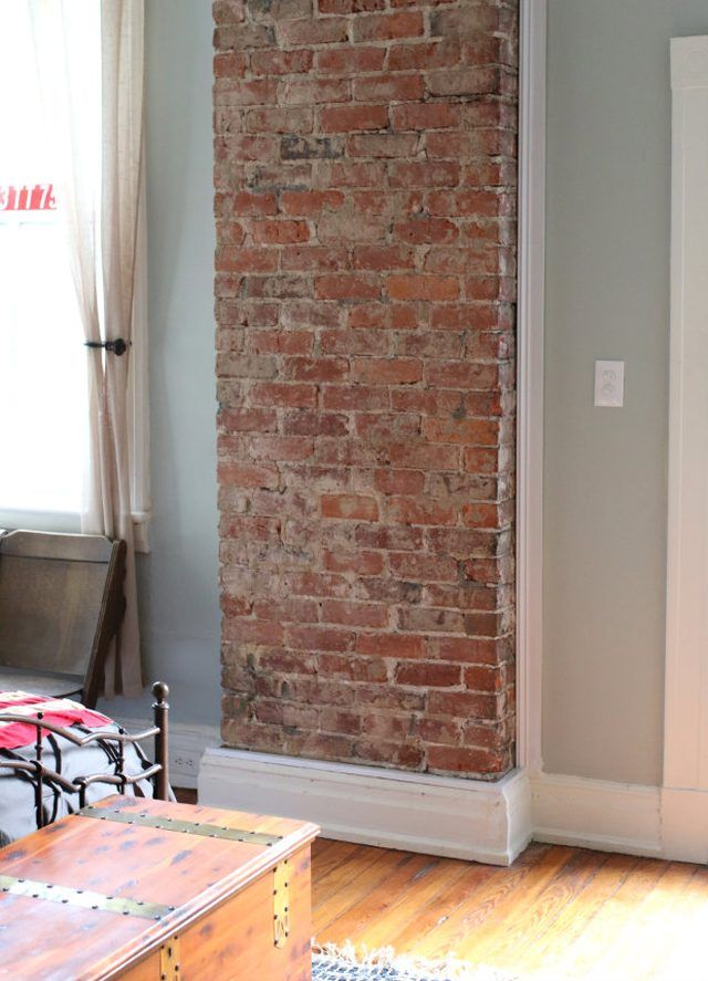 How To Remove Plaster From A Brick Chimney Brick Chimney Brick Fireplace Brick Kitchen
