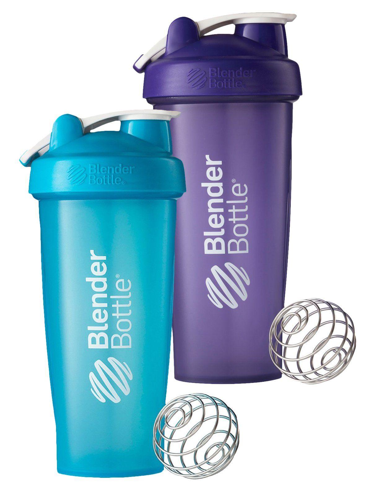 28 Oz. Hook Blender Bottle W/wire Shaker Ball BundleFull Color Aqua ...