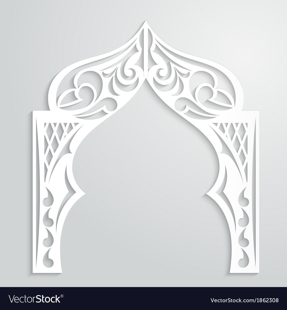Abstract Background With Paper Arch Vector Image On Vectorstock Abstract Backgrounds Abstract Islamic Art