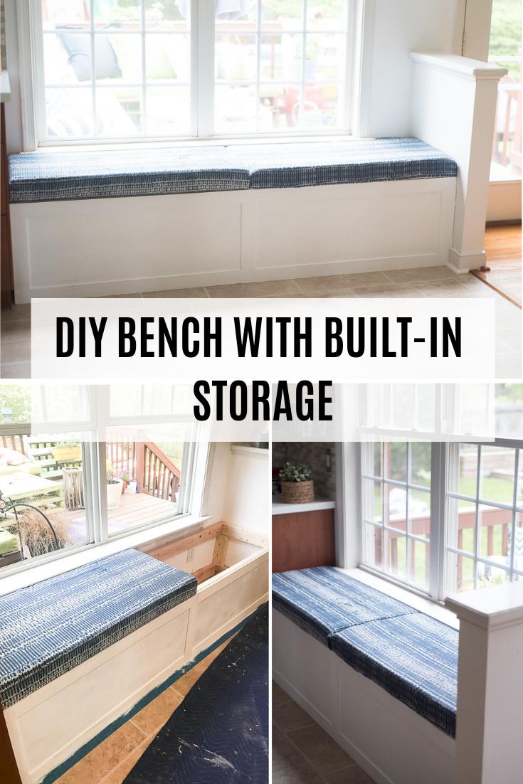 Diy Built In Storage Bench Tutorial Built In Storage Storage