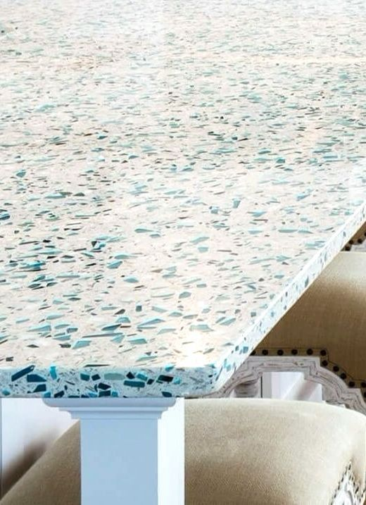 Photo of Recycled Sea Glass Style Countertop Ideas for Kitchen & Bath Vanity by Vetrazzo
