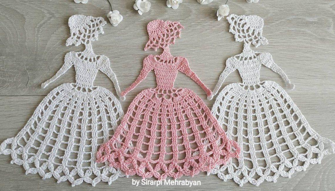 Crochet doily Crinoline Lady Doily lace Applique girl home | Etsy