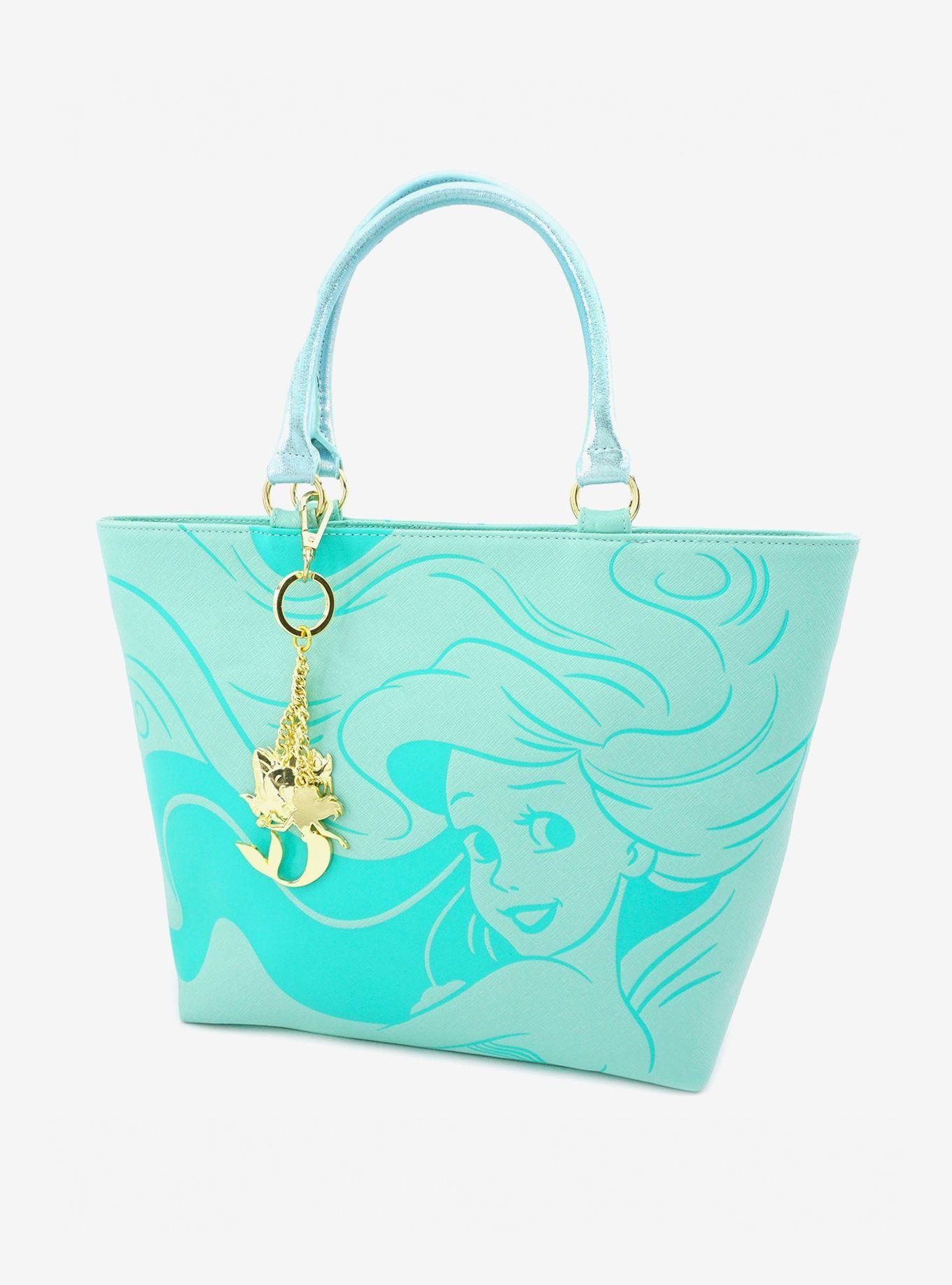 Little Mermaid Ariel Aqua Tote Bag
