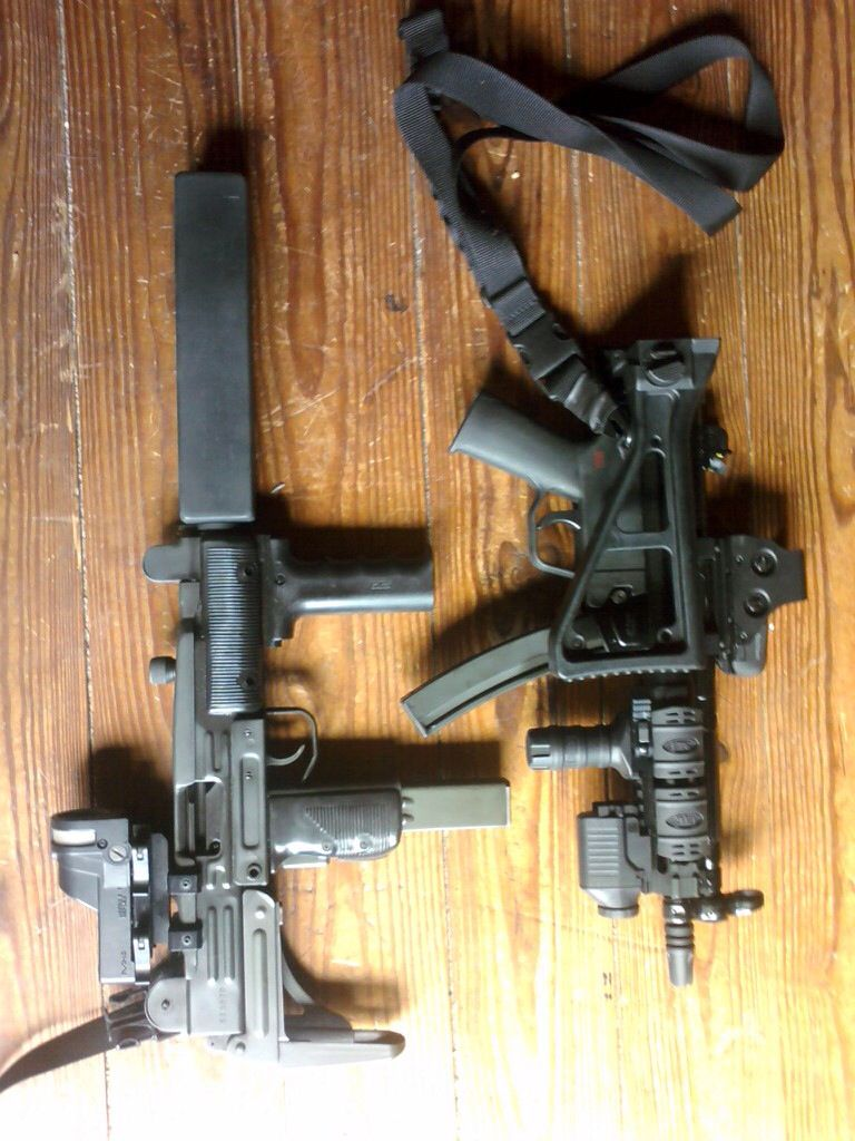 SBR Vector UZI with my designed/fabricated suppressor, SBR