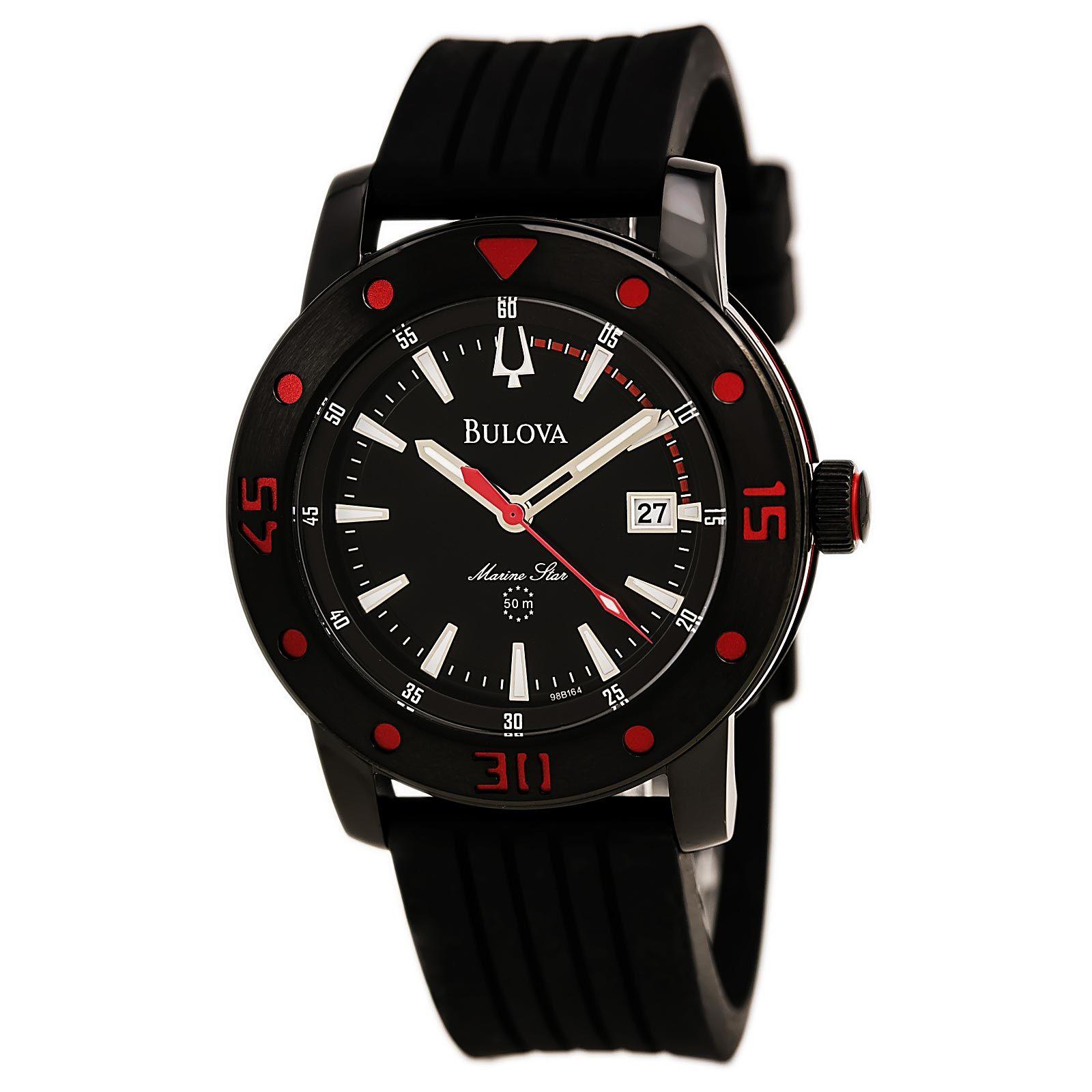 Bulova 98B164 Men's Sport Black Dial Black Steel Black Strap Watch,    #Bulova,    #Bulova98B164