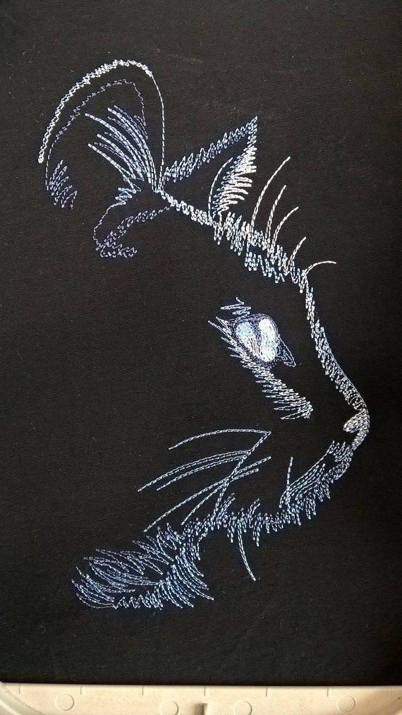 Machine Embroidery Designs Machineembroiderydesigns In 2020 With Images Machine Embroidery Cat Animal Embroidery Machine Embroidery Designs