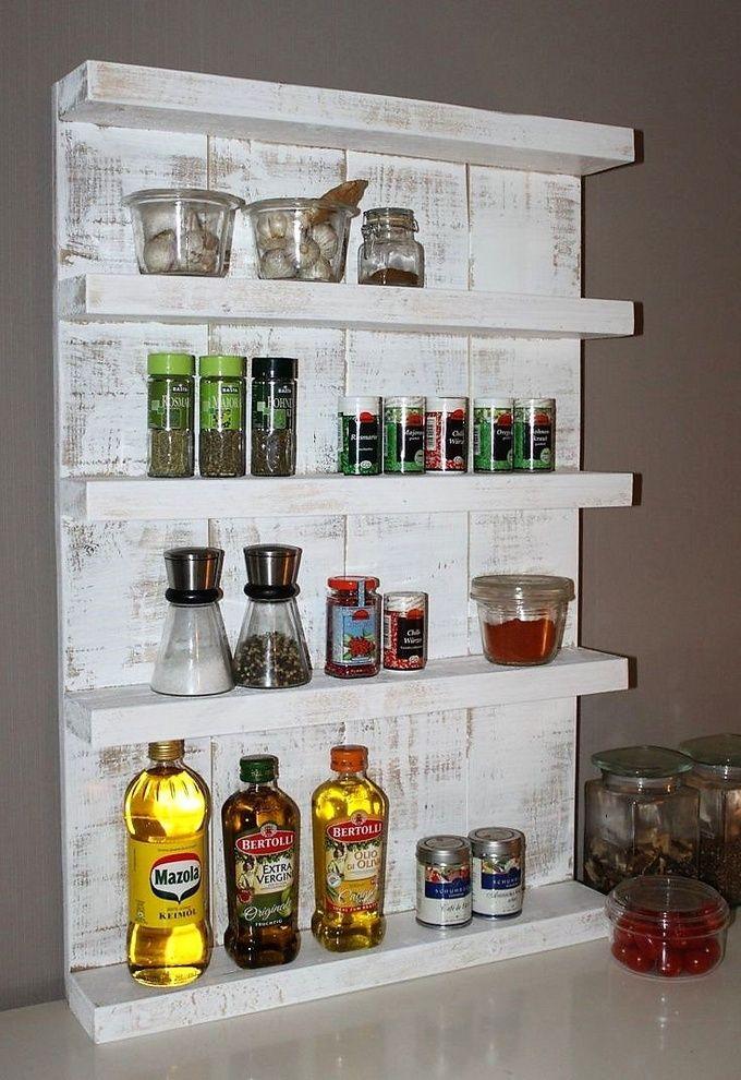 Wooden Pallets Made Kitchen Shelves | Palettenmöbel, Diy möbel und ...