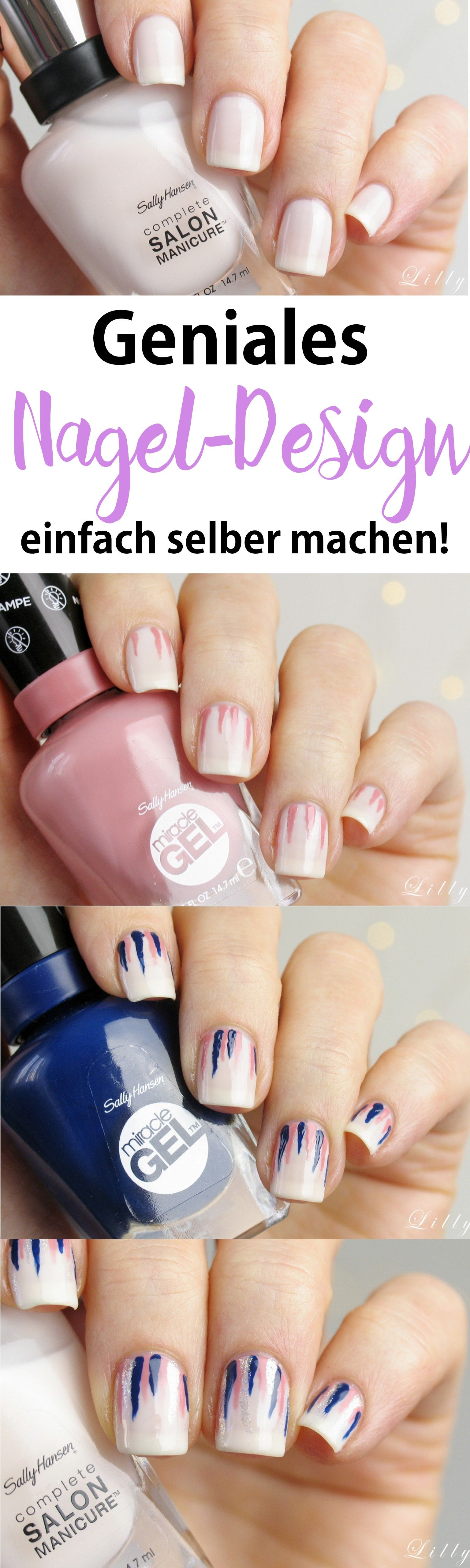 WATERFALL NAILS: Einfaches Nageldesign Sally Hansen | Nageldesign ...