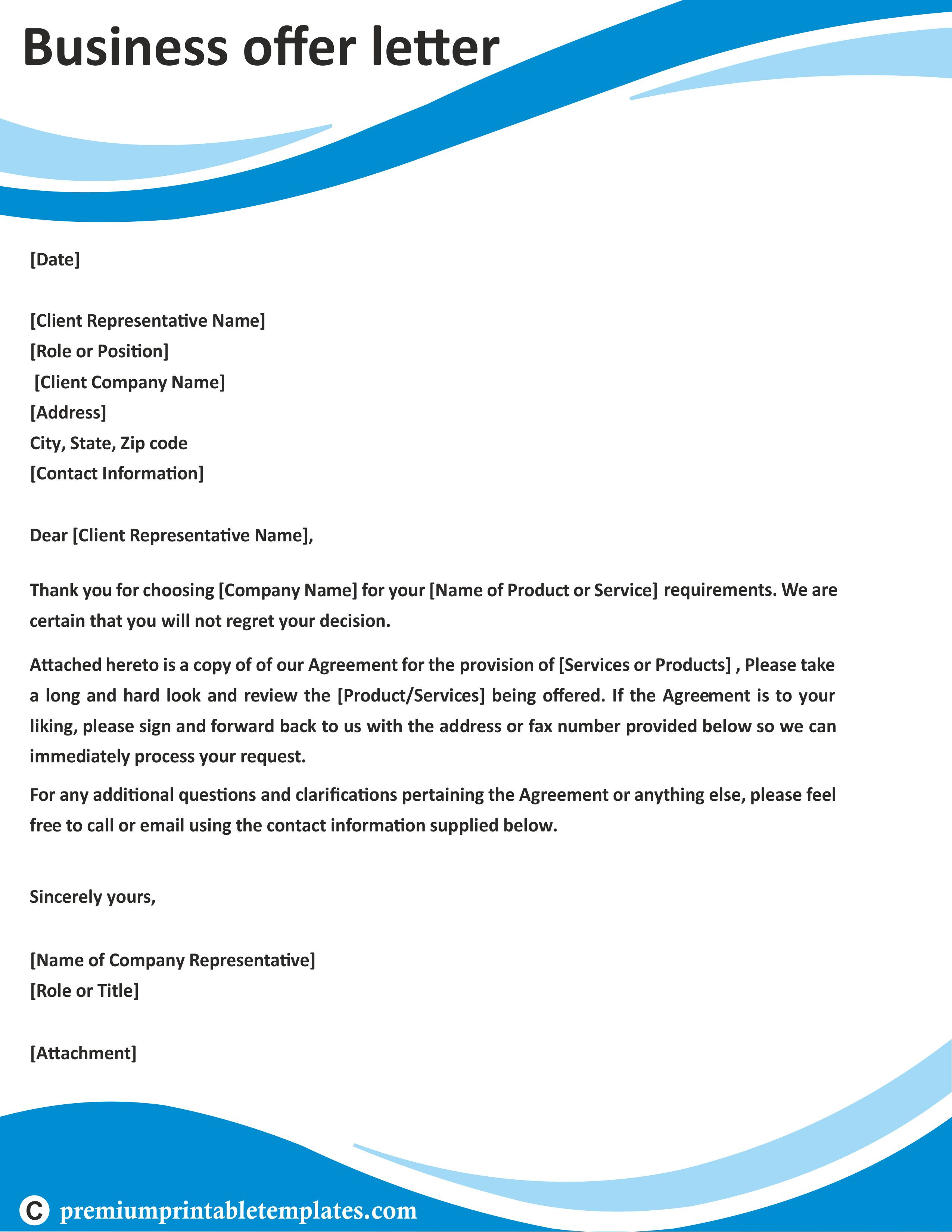12 Creative Business Offer Business Letter Template Business Letter Format Proposal Letter Sample business letters to customers