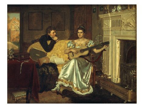 Say, What shall be the Burden of my Song?, 1881 - Edmund Blair Leighton