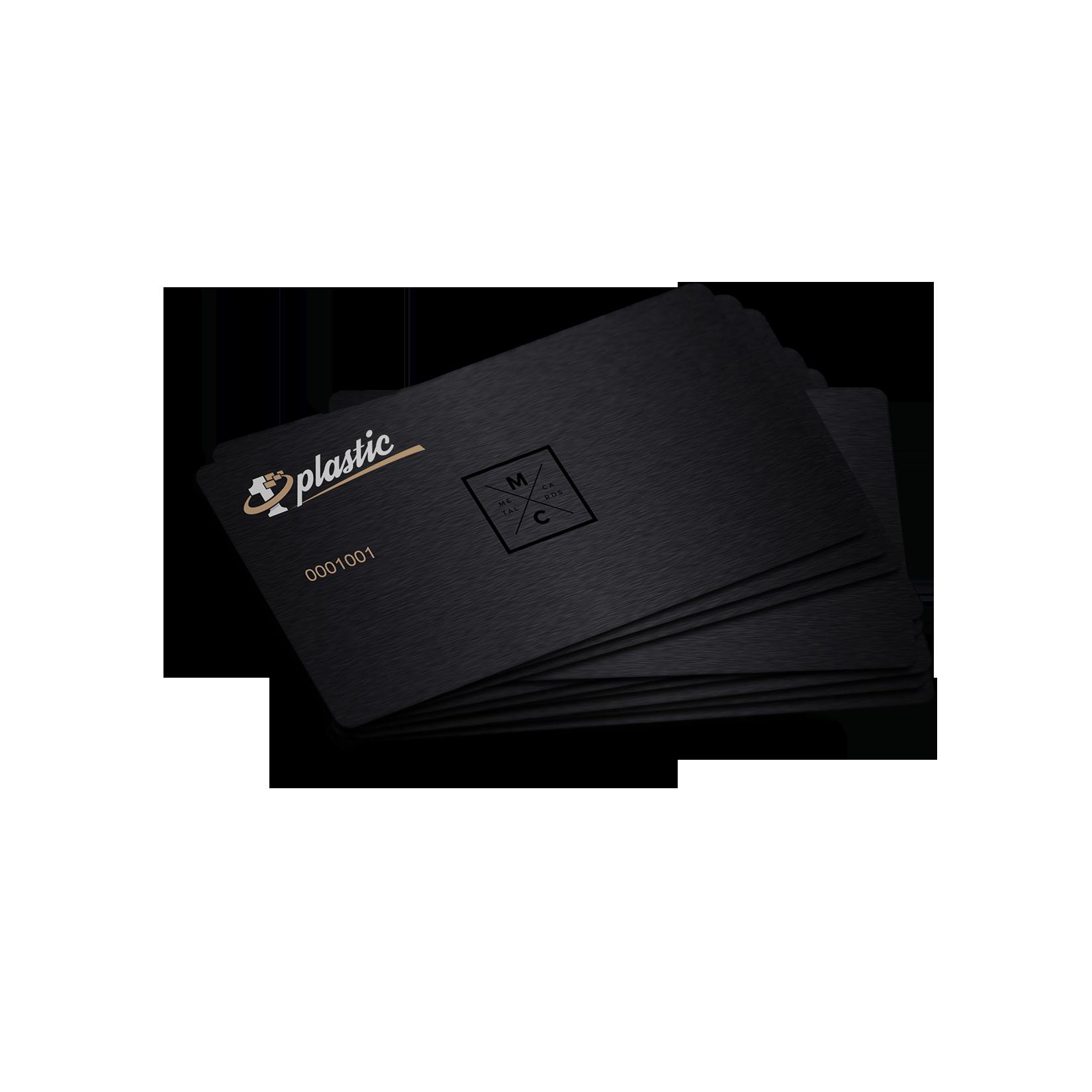 Metal Business Card Black Infill Qr Flat Nr Browse