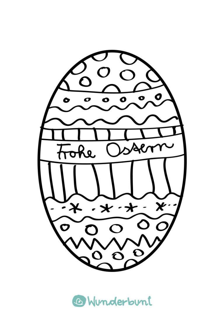Ausmalbild Osterei Malvorlage Zum Osterkarte Basteln Wunderbunt De Osterkarten Basteln Osterei Malvorlage Malvorlagen