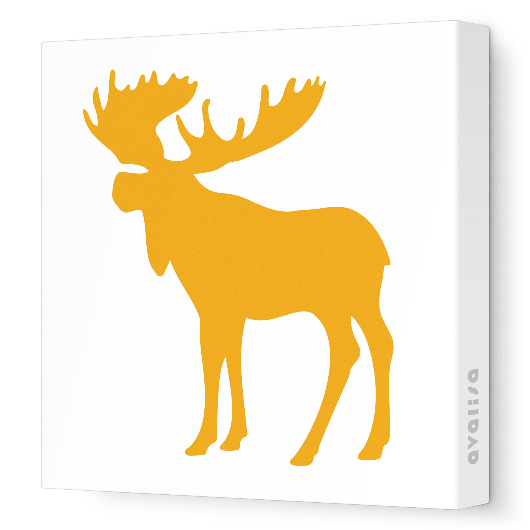 Orange Moose Silhouette - Animal Silhouette - Avalisa.com #nursery ...