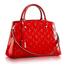 36e720115a8b Louis Vuitton Montaigne MM Monogram Vernis Leather Handbag Article  M50167  Cherry Made in France