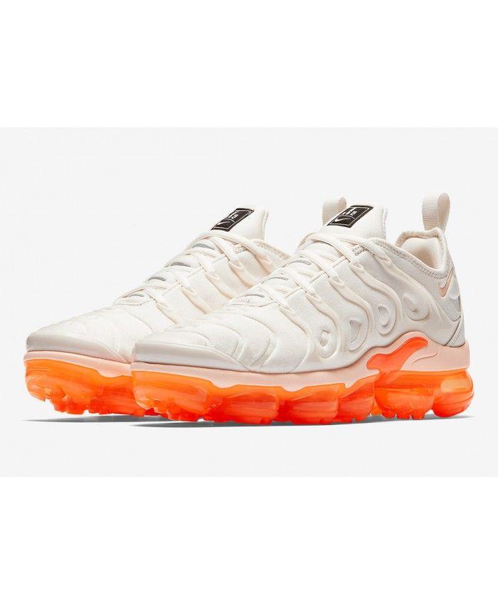 Nike Vapormax Plus Womens White Orange  2fef998f4