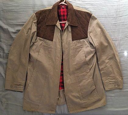 1636b4a0df6e5 Men's rare vintage JC Higgins shooting hunting jacket Size 44 ...