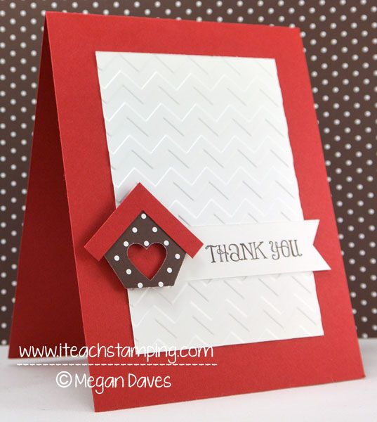 Lovely Ideas For Making Thank You Cards Part - 2: Need A Quick Thank You Card Idea