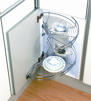 Revashelf 5PSP 15 Chrome Blind Corner Kitchen Cabinet Organizer Pullout  Baskets | Kitchen Cabinet Organizers, Cabinet Organizers And Kitchens