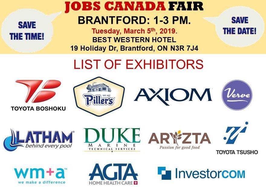 List of Hiring Companies for Brantford Job Fair March 5th