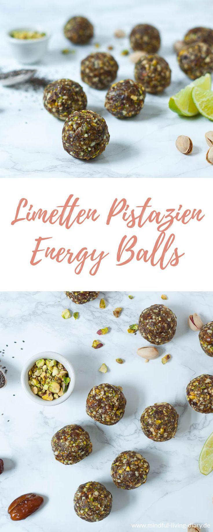 Limetten Pistazien Energy Balls - ein super gesunder Snack und die perfekte Alternative zu herkömmlichen Süßigkeiten, denn sie stecken voller wichtiger Nährstoffe #vegan #vegetarisch #zuckerfrei #energyballs #gesundesnacks #datteln #pistazien #snack #laktosefrei #glutenfei #nüsse - www.appleandginger.de