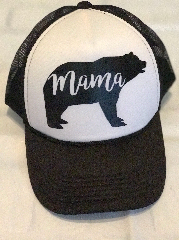 Baseball Caps · Vegan Hat. Mama Bear Hat. Mama Bear. Ladies Trucker Hat.  Etsy Hat 335930134629