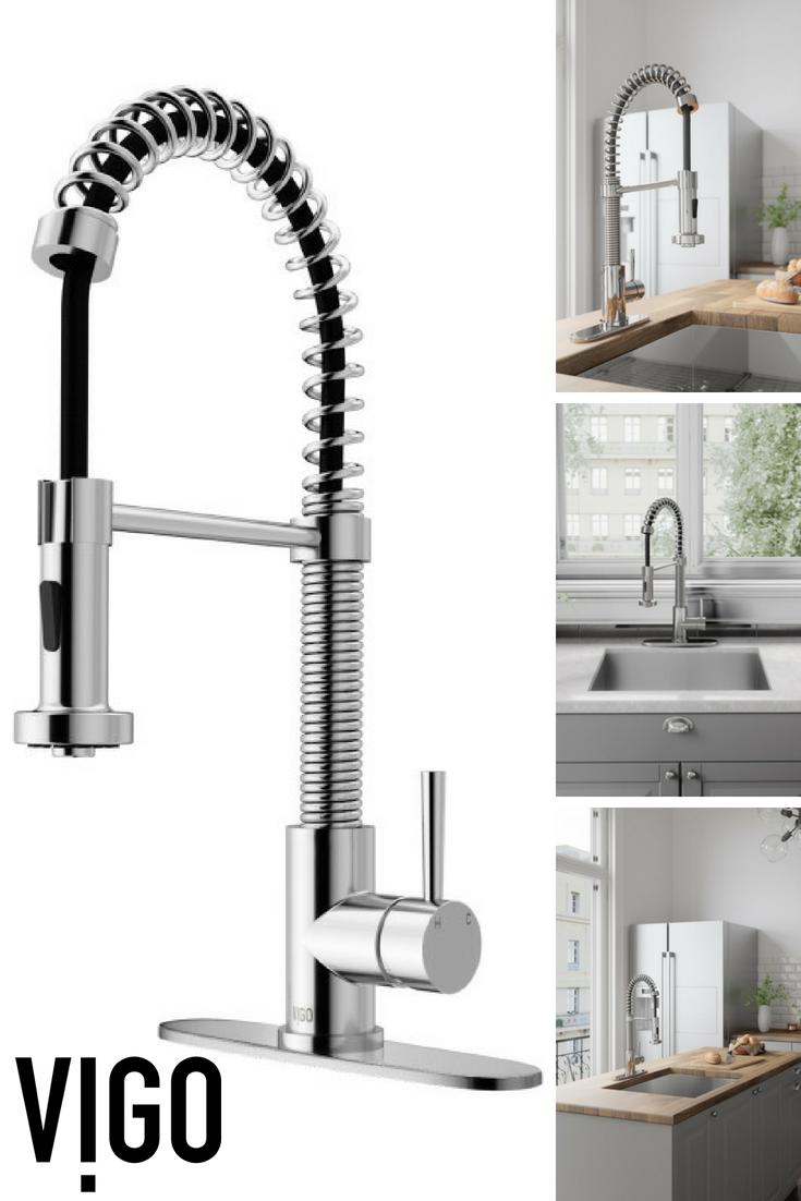 Vigo Laurelton Pull Down Spray Kitchen Faucet In Matte Black vigo edison single-handle pull-down sprayer kitchen faucet