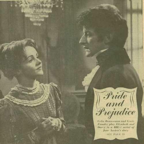 Pride And Prejudice 1967 The Regency In Film Pride Prejudice